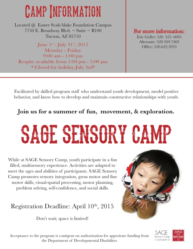 Sensory Camp Flyer